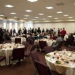 Wesley Hall Banquet setup