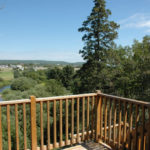 Townhouse Apartment deck overlooking the Kennebecasis River